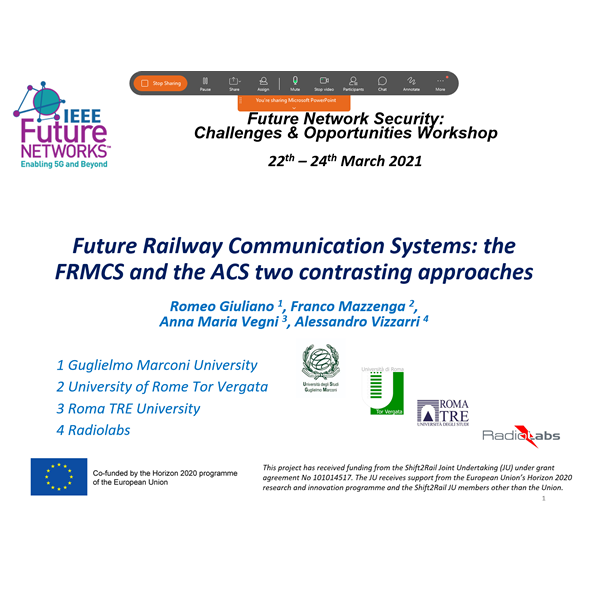 Successful participation in Future Network Security: Challenges & Opportunities Workshop