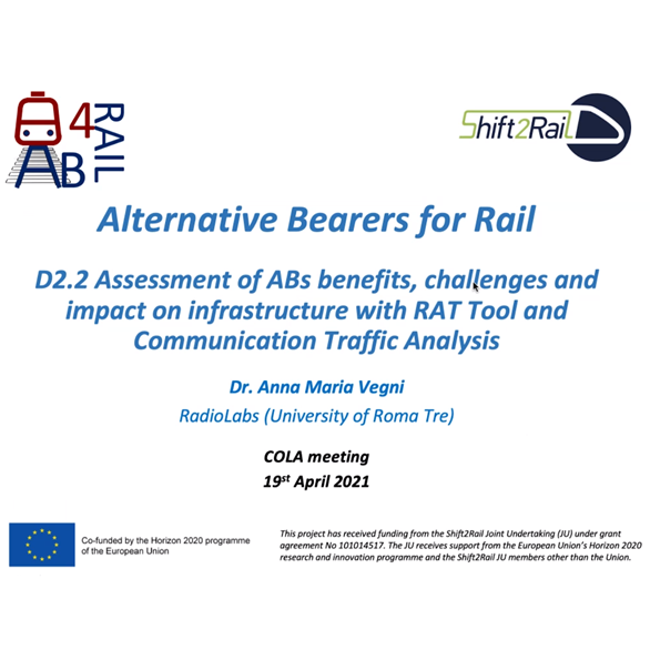 X2Rail and AB4Rail ongoing collaboration – meeting April 2021